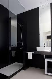 black and white bathroom decor white varnished wooden vanity