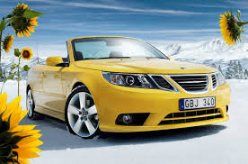 saab convertible 2016 black is hard to see at night bright canary yellow then