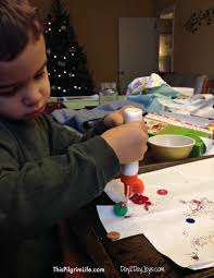 sticky christmas trees an easy preschool holiday craft
