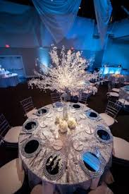Winter Wonderland Wedding Theme Decorations - knockoff pottery barn glitter and snow pinecones click pic for