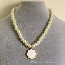 monogram necklace cheap monogram enamel quatrefoil magnolia disc blanks necklace pearl