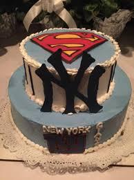 my groom u0027s cake for my husband a superman yankee and giants fan