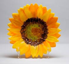 Sunflower Home Decor Loved Making This One Fusing Glass Pinterest Glass