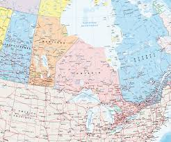 Political Map Of Canada Giant Detailed Political Map Of Canada With Cities And Towns By