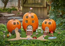 pumpkin challenge fairy garden pumpkin village diy network blog