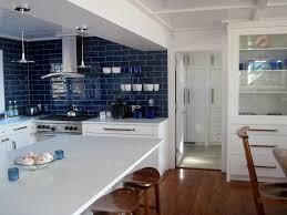 blue backsplash kitchen cobalt blue backsplash kitchen contemporary with subway tile white