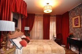 Red Curtains In Bedroom - velvet drapery wall drapes curtains sheer fabric bedroom