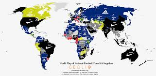 nike map football s national team kit suppliers how they spread across
