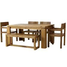 induscraft table bench 6 seater dining table set dining table