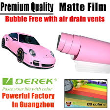 Light Pink Car Matte Car Wraps Vinyl Film Matte Pink Car Wrapping Film