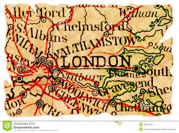 Map Of London England by London Old Map Royalty Free Stock Photos Image 16564178