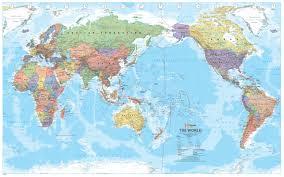 World Map Flat by Map Centre Parramatta World Hema Super Laminated 1550 X 990