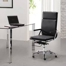 Small Leather Desk Chair Emejing Modern Black Leather Office Chair Ideas Liltigertoo
