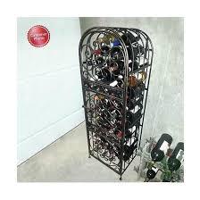 wrought iron wine jail free standing wine racks