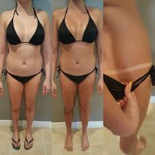 spray tan before and after by katastic tans using aviva labs gimme
