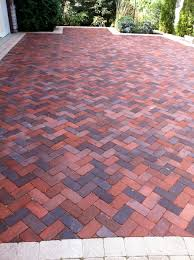 Ideas For Patios Brick Herringbone Pattern For Patio Driveway For The Home