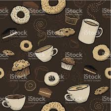 wallpaper borders coffee cups seamless cafe wallpaper stock vector art more images of