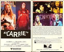 carrie horror vhs artwork pinterest horror