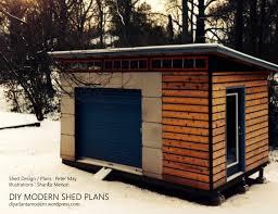 Modern Shed Designs Diy Modern Shed Plans From Diyatlantamodern On Etsy Studio