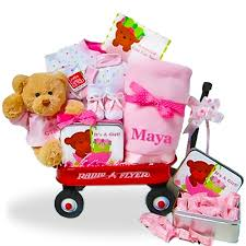 personalized basket the all girl welcome home radio flyer wagon gift basket