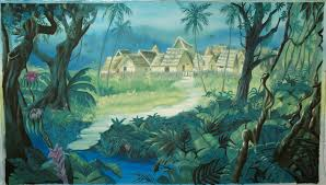 jungle backdrop jungle book backdrop scenic painting erin o donnell