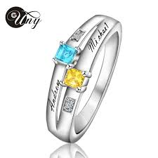 s day birthstone rings online get cheap heart birthstone rings aliexpress alibaba