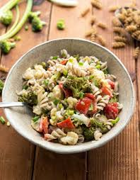 gluten free roasted broccoli pasta salad vegan yack attack