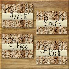 animal print bathroom ideas leopard bathroom cheetah print word wall decor wash beige