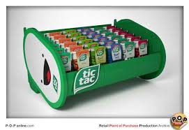 tic tac countertop retail point of sale display p o p