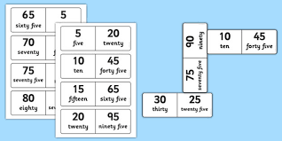 printable numeracy games year 1 number bonds to 100 dominoes multiples of 5 maths numeracy game