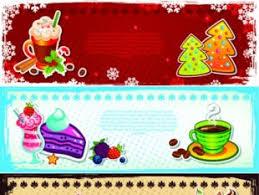vector christmas shopping banner design elements free vectors