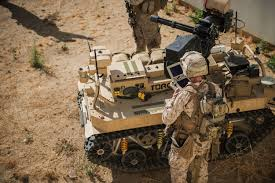 u s marines are testing a machine gun wielding robot controlled