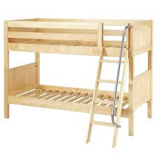 Low Height Bunk Beds For Kids Hardwood Low Twin Bunk Bed With - Height of bunk beds