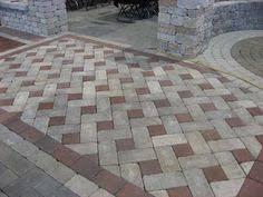 Painted Patio Pavers Herringbone Brick Patio Google Search Gardening Pinterest