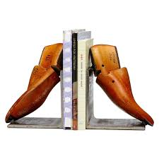 vintage shoe form bookends metal shoe horn antique uncommongoods