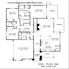 French Country Floor Plans by 2 Garage Edg Plan Collection