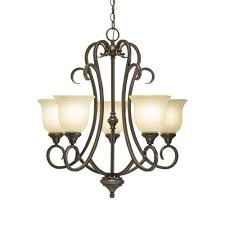 Home Depot Chandelier Lights Hampton Bay Lavers Hill 5 Light Iron Stone Chandelier 89579 The