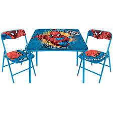 kids table and chairs walmart marvel comics spiderman table and chairs set walmart com