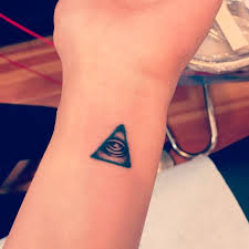all seeing eye small and mini spooky tattoos