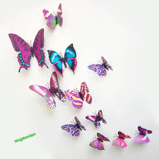 pcs pvc butterflies diy butterfly art decal home decor wall pcs pvc butterflies diy butterfly art decal
