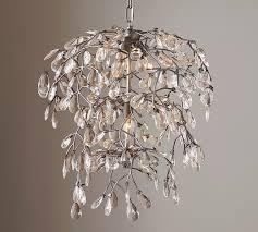 Crystal Glass Chandelier Crystal Glass Chandelier Pottery Barn