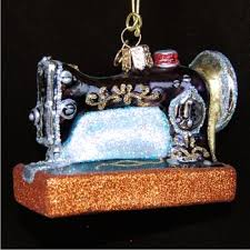sewing machine personalized ornaments by