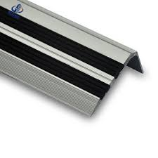 pvc rubber stair treads with abrasive strips for added stair slip