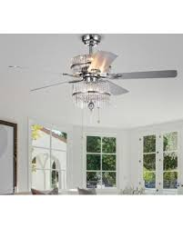 ceiling fan with grey blades bargains on warehouse of tiffany wyllow 6 light crystal chrome grey
