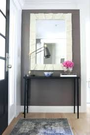 Black Entryway Table Foyer Mirrors With Hooks Entryway Table Mirror Gray Black Console