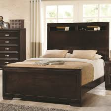 solano queen bed with lighted headboard storage coaster 203711q