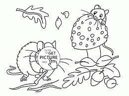 fall and rodents coloring pages for kids fall leaves printables