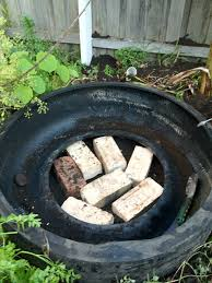 how to build a pond from tires ground to ground