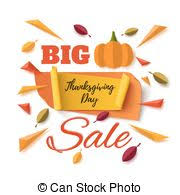 vector illustration of thanksgiving day discount coupon for