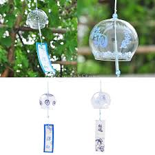 glass wind chime bell japenese style home garden hanging decor diy